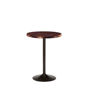 Brookside 45 In. Cherry Wood Pub Table with Wooden 24 In. Round Top
