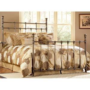 Baxter Rustic Brass King Bed Frame
