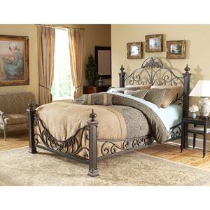 Baroque Gilded Slate Queen Bed