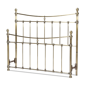 Leighton Antique Brass Full Bed with Metal Panels and Scalloped Castings