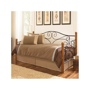 Doral Matte Black Twin Complete Metal Daybed with Euro Top Deck and Trundle Bed Pop-Up Frame