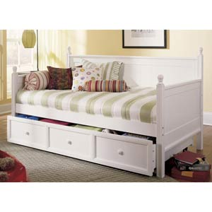 Casey White Twin Daybed w/ Trundle