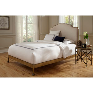 Calvados Sand/Natural Oak Metal King Bed
