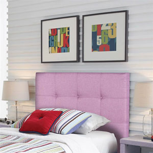 Henley Orchid Upholstered Twin Kids Headboard Panel with Button Tufted Design