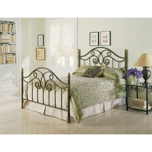 Dynasty Autumn Brown Queen Bed Frame