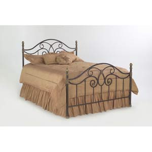 Dynasty Autumn Brown King Bed Frame