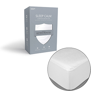 Sleep Calm Queen Mattress Protector with Stain and Dust Mite Defense