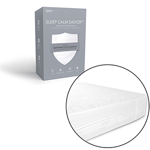 Sleep Calm Full XL Easy Zip Expandable Mattress Encasement with Stain and Dust Mite Defense
