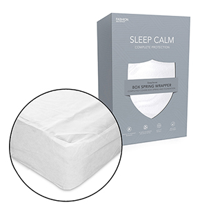 Sleep Calm Full XL Nonwoven Zippered Box Spring Encasement with Bed Bug Defense