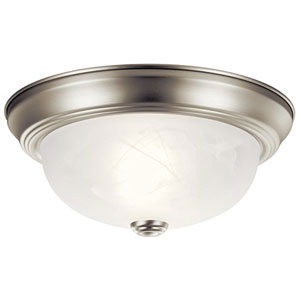 Brushed Nickel Flush-Mount Ceiling Light