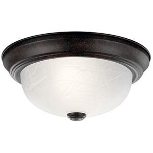 Tannery Bronze Flush-Mount Ceiling Light