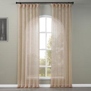 Open Weave Natural 50 x 120-Inch Linen Sheer Curtain