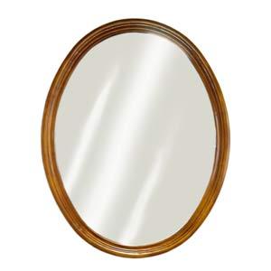 Oak Semi Circle Mirror