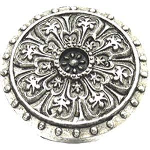 Medici Florentine Ornate Knob - Warm Pewter