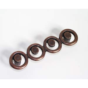 Circle Drawer Pull - Antique Matte Copper