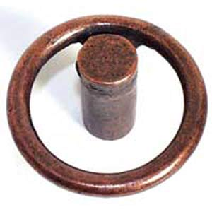 Small Circle Knob - Antique Matte Copper
