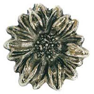 Sunflower Knob - Antique Matte Brass