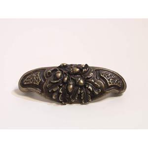 Acorn Bin Drawer Pull - Antique Matte Brass