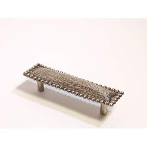 Bead Edge Texture Drawer Pull - Antique Bright Silver