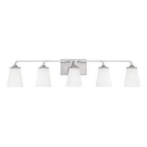 HomePlace Braylon Brushed Nickel 40-Inch Five-Light Bath Vanity