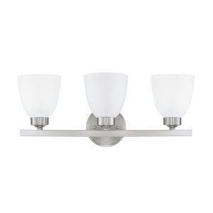 HomePlace Jameson Brushed Nickel 21-Inch Three-Light Bath Vanity