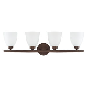 HomePlace Jameson Bronze 29-Inch Four-Light Bath Vanity