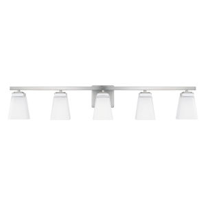 HomePlace Baxley Brushed Nickel 40-Inch Five-Light Bath Vanity