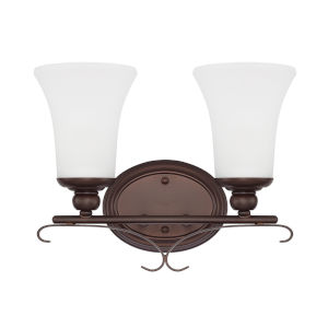 HomePlace Griffin Bronze 14-Inch Two-Light Bath Vanity