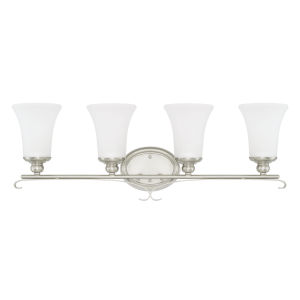 HomePlace Griffin Brushed Nickel 31-Inch Four-Light Bath Vanity