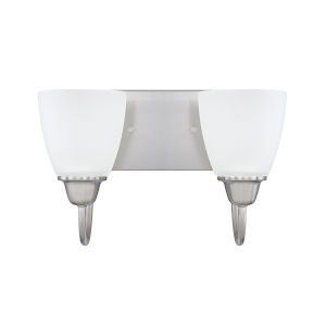 HomePlace Trenton Brushed Nickel 13-Inch Two-Light Bath Vanity