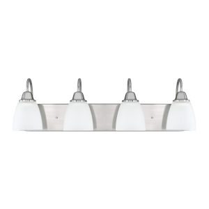 HomePlace Trenton Brushed Nickel 30-Inch Four-Light Bath Vanity