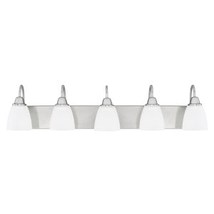 HomePlace Trenton Brushed Nickel 36-Inch Five-Light Bath Vanity