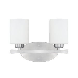 HomePlace Dixon Brushed Nickel 13-Inch Two-Light Bath Vanity