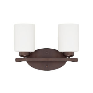 HomePlace Dixon Bronze 13-Inch Two-Light Bath Vanity