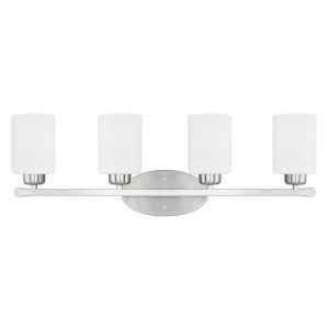 HomePlace Dixon Brushed Nickel 29-Inch Four-Light Bath Vanity