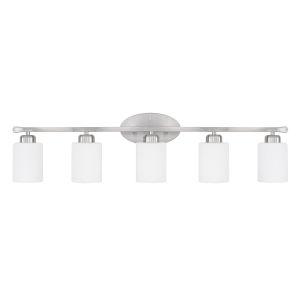 HomePlace Dixon Brushed Nickel 37-Inch Five-Light Bath Vanity