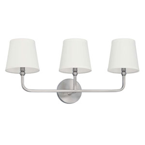 Dawson Brushed Nickel Three-Light Vanity