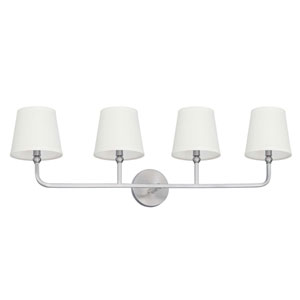 Dawson Brushed Nickel Four-Light Vanity