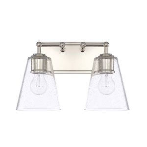 Polished Nickel Two Light Vanity