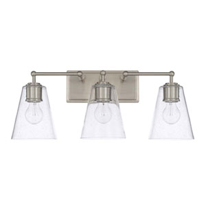 Brushed Nickel Three-Light Vanity