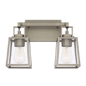 Kenner Antique Nickel Two Light Vanity