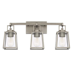 Kenner Antique Nickel Three-Light Vanity