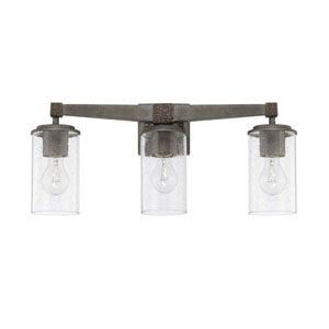 Zac Urban Gray Three-Light Vanity