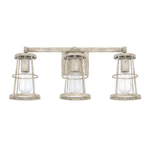 Beaufort Gray Three-Light Vanity