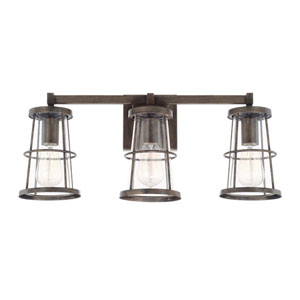 Beaufort Nordic Grey Three-Light Vanity