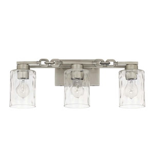 Wallace Antique Nickel Three-Light Vanity