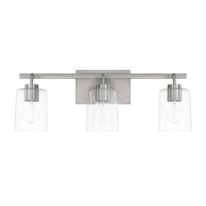 HomePlace Greyson Brushed Nickel 25-Inch Three-Light Bath Vanity