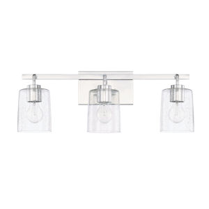 HomePlace Greyson Chrome 25-Inch Three-Light Bath Vanity