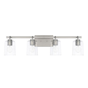 HomePlace Greyson Brushed Nickel 34-Inch Four-Light Bath Vanity