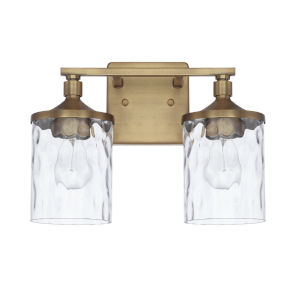 HomePlace Colton Aged Brass 13-Inch Two-Light Bath Vanity